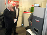 During Hannover Industrial Exhibition Russia: fiber laser marking and engraving machine