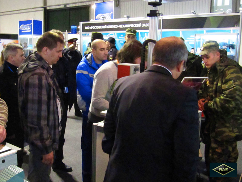 Russia Arms Expo 2013. Laser marking for factories that produce military oriented item.