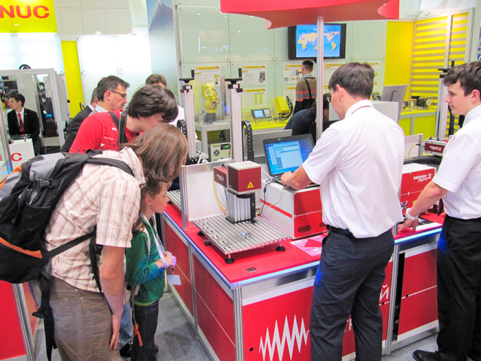 Metalworking exhibition of 2014. Laser marking system was presented at the stand in standard specification.