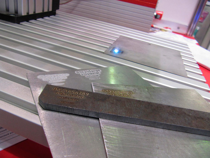 Metalworking exhibition of 2014. Laser marking system photo.